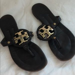Good condition Tory Burch brown leather sandals